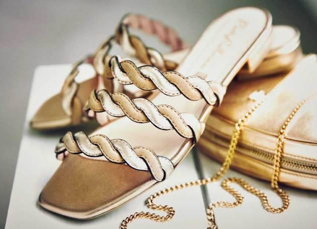 sandales bouts carrés hr